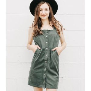 NWT Button Down Brushed Knit Dress